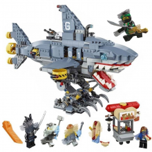 Ninja Ninjago 6-shark Building Blocks Sets Bricks 70656 Compatible Lego