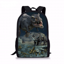 Forudesigns 3d Jurassic World Dinosaur Backpack 16 Inch School Bags Teenagers Travel Bag Book Mochila