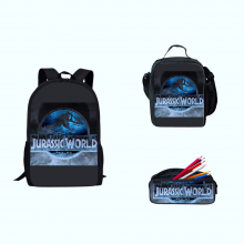 Jurassic World School Bags 3pcs Primary Dinosaur Printing Backpack Teen Satchel Mochila
